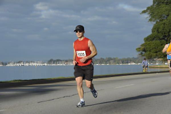 Me running a marathon